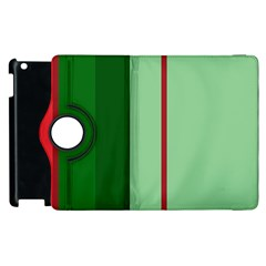 Green and red design Apple iPad 3/4 Flip 360 Case
