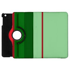 Green and red design Apple iPad Mini Flip 360 Case