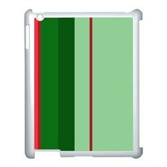 Green and red design Apple iPad 3/4 Case (White)