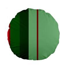 Green and red design Standard 15  Premium Round Cushions