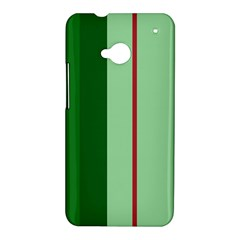 Green and red design HTC One M7 Hardshell Case