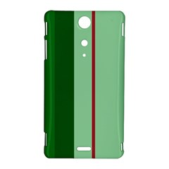 Green and red design Sony Xperia TX