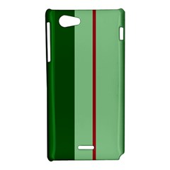 Green and red design Sony Xperia J
