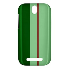 Green and red design HTC One SV Hardshell Case