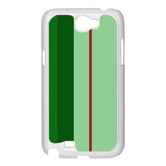 Green and red design Samsung Galaxy Note 2 Case (White)