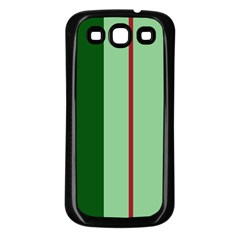 Green and red design Samsung Galaxy S3 Back Case (Black)