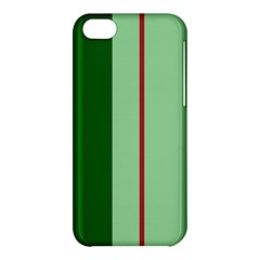 Green and red design Apple iPhone 5C Hardshell Case
