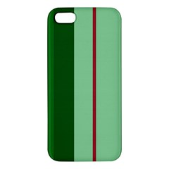 Green and red design iPhone 5S/ SE Premium Hardshell Case