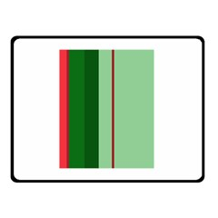 Green and red design Double Sided Fleece Blanket (Small)