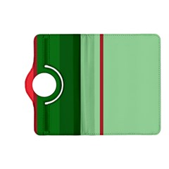 Green and red design Kindle Fire HD (2013) Flip 360 Case