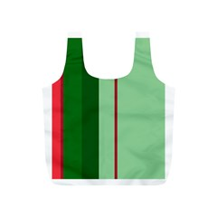 Green and red design Full Print Recycle Bags (S)