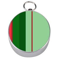 Green and red design Silver Compasses