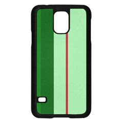 Green and red design Samsung Galaxy S5 Case (Black)