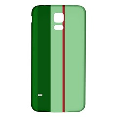 Green and red design Samsung Galaxy S5 Back Case (White)