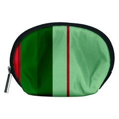 Green and red design Accessory Pouches (Medium)