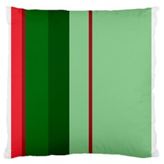 Green and red design Standard Flano Cushion Case (One Side)