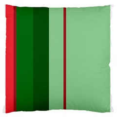 Green and red design Large Flano Cushion Case (One Side)