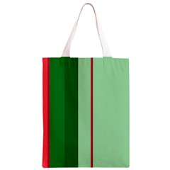 Green and red design Classic Light Tote Bag