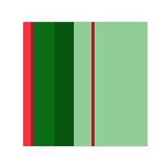 Green and red design Small Satin Scarf (Square)