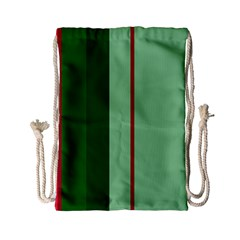 Green and red design Drawstring Bag (Small)