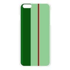 Green and red design Apple Seamless iPhone 6 Plus/6S Plus Case (Transparent)
