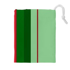 Green and red design Drawstring Pouches (Extra Large)