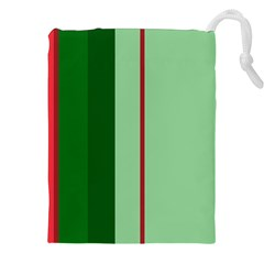 Green and red design Drawstring Pouches (XXL)