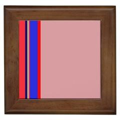 Pink elegant lines Framed Tiles