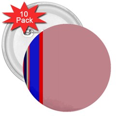 Pink elegant lines 3  Buttons (10 pack)
