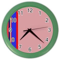Pink elegant lines Color Wall Clocks