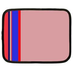 Pink elegant lines Netbook Case (Large)