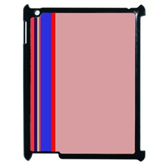 Pink elegant lines Apple iPad 2 Case (Black)