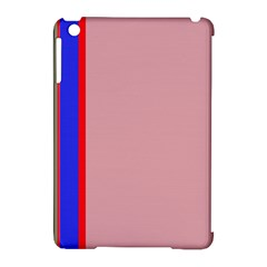 Pink elegant lines Apple iPad Mini Hardshell Case (Compatible with Smart Cover)