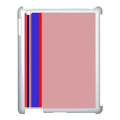 Pink elegant lines Apple iPad 3/4 Case (White)