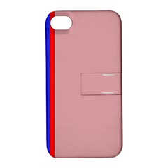 Pink elegant lines Apple iPhone 4/4S Hardshell Case with Stand