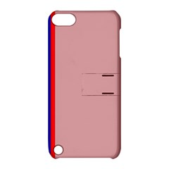 Pink elegant lines Apple iPod Touch 5 Hardshell Case with Stand