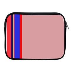 Pink elegant lines Apple iPad 2/3/4 Zipper Cases