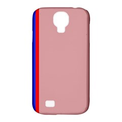 Pink elegant lines Samsung Galaxy S4 Classic Hardshell Case (PC+Silicone)