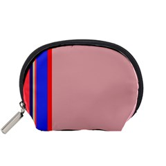 Pink elegant lines Accessory Pouches (Small)