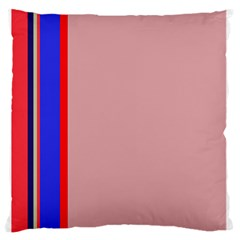 Pink elegant lines Large Flano Cushion Case (Two Sides)