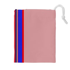 Pink elegant lines Drawstring Pouches (Extra Large)