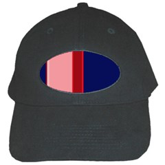 Pink and blue lines Black Cap