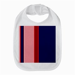 Pink And Blue Lines Bib