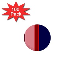 Pink and blue lines 1  Mini Buttons (100 pack)