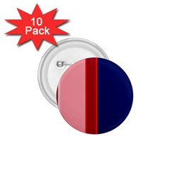 Pink and blue lines 1.75  Buttons (10 pack)