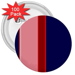 Pink and blue lines 3  Buttons (100 pack)