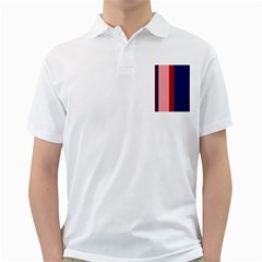Pink and blue lines Golf Shirts