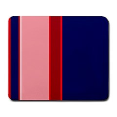 Pink and blue lines Large Mousepads