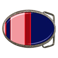 Pink and blue lines Belt Buckles