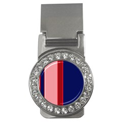 Pink and blue lines Money Clips (CZ)
